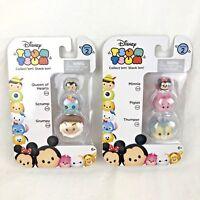 Disney TSUM TSUM 3 Pack Series 2 Mini Toy Figures Minnie Piglet NEW Lot of 2
