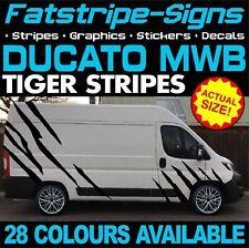 FIAT DUCATO L2 MWB Tiger Stripes Graphics Stickers Decals Camper Van Motorhome