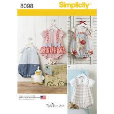 Simplicity Sewing Pattern 8098 Baby Toddler Xxs- Lrg Romper Sandals Stuffed Duck