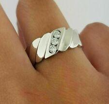 1.50 Ct Men's Round Cut VVS1 Diamond Wedding Engagement Ring 14K White Gold Over