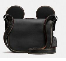 New Disney X Coach F59369 Patricia Saddle Glove Calf Leather With Mickey Ears