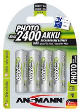 8x Ansmann 2400mAh Akku`s für Photoapparate Blitzgeräte Fotoakkus Photo Akku`s
