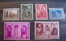 Belgium semi postal stamp #B250-255 mint Vf