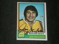 JIM NEILSON 1974-75 TOPPS SIGNED AUTO CARD #109 SEALS