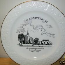 Mt. Olive Lutheran Church 50th ANNIVERSARY Plate