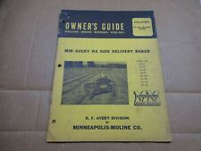 Minneapolis Moline Avery Ra Side Rake Maintenance Parts Book Manual R207 1952