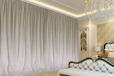 Large Thick Faux Ashmere Velvet Curtains 590x265cm with line+Hooks,90%block out