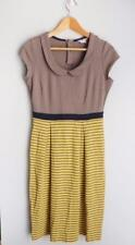 BODEN sz 10L UK 6L US color block gray yellow fitted sheath dress EUC