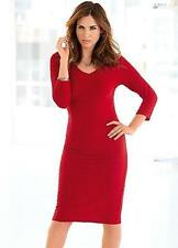 V-Neck 3/4 Sleeve Midi Textured Dresses for Women