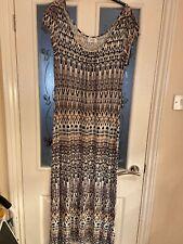 Ladies Clothes Size Large PETITE Wallis Maxi Dress With Belt Smart Casual (682)