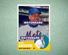 Duke Snider New York Mets 1963 Style Custom Baseball Art Card