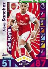 035 ALEXIS SANCHEZ CHILE ARSENAL.FC CARDS STAR PLAYER PREMIER LEAGUE 2017  TOPPS