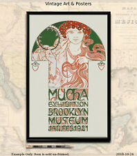 11x17 Art Nouveau Poster Print Alphonse Mucha 1921 Brooklyn Exhibition