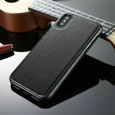 Vintage Magnetic Leather Case For iPhone Xs Max Xr 8 Luxury Cover Magnetic Skin
