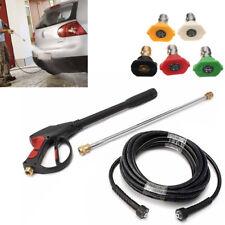 5-Tips Durable 3000Psi High Pressure Car Power Washer Wand Hose Spray Gun Us