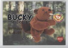 1998 Ty Beanie Babies Series 1 Chase Silver #29 Bucky the Beaver Card 1u0