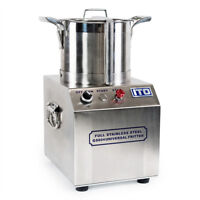 WYZworks 550W Stainless Steel Commercial Grade Food Processor 1400RPM CE Fritter