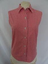 Joli chemisier de la marque SAINT JAMES tissu vichy rouge et blanc