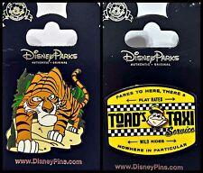 Disney Parks 2 Pin Lot Jungle Book Villain Shere Khan + Mr Toad Taxi Wild Ride