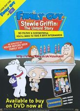 Family Guy Stewie griffin Untold Story DVD 2005 Magazine Advert #1314