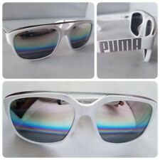 PUMA Idol 0013S 003 White Men's Sunglasses Aviator Mirrored Lens Fashion New