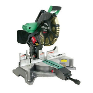 Hitachi 12 in. Dual Bevel Miter Saw with Laser Guide C12FDH Recon