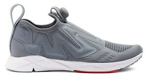 REEBOK Pump Supreme Engine Low-Top Mesh Trainers Sneakers NO LACE Gry US 9.5 NIB