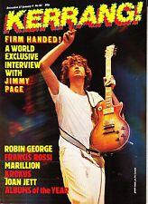 Kerrang! Magazine #84 Jimmy Page Interview Krokus Joan Jett Francis Rossi