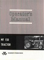 Massey Ferguson MF 150 Tractor Operators Manual