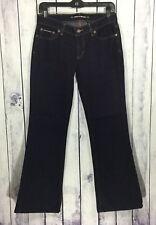 DKNY Womens Juniors Denim Jeans Size 5 J306 Times Square Flare Black
