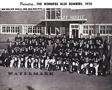 CFL1950 Winnipeg Blue Bombers Team Picture Black & White 8 X 10 Photo Free Ship