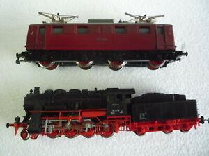 2 alte Piko Loks E 46(rot) + BR 56(schwarz) H0 DC analog gebraucht