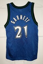 b2edc2273508e KEVIN GARNETT MINNESOTA TIMBERWOLVES CHAMPION JERSEY YOUTH SIZE M 10-12  Medium