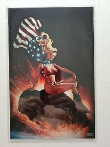 Patriotika #1 rare metal virgin variant naughty Adam Hughes homage NM+ 30 made