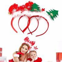 Reindeer Antlers Christmas Tree Headband Santa Xmas Hair Band Head Hoop Headwear