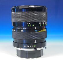 Soligor C/D MC Zoom+Macro 24-45mm/3.5-4.5 Lens Objektiv für Minolta MD - 200372