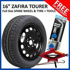 """VAUXHALL ZAFIRA C TOURER  2011-2019 16"""" FULL SIZE  SPARE WHEEL AND TYRE + TOOLS"""