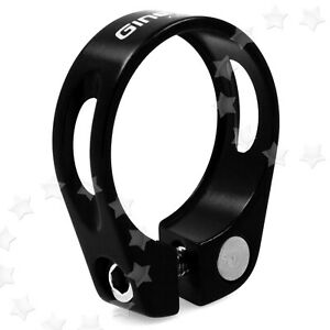 Bicycle Seat Post Clamp Aluminum Alloy Cycling MTB Black For 27.2/26.8mm