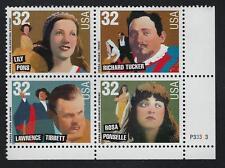 SCOTT 3154-57 1997 AMERICAN MUSIC SERIES OPERA SINGERS ISSUE PB OF 4 MNH OG VF!