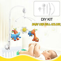 Baby Crib Mobile Bed Bell Toy Holder Arm Bracket + Clockwork Movement Music AU