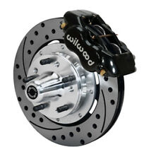 WILWOOD 140-12022-D 65-68 CHEVY FRONT DRILLED KIT DRUM BRAKE SPINDLE - BLK #6099