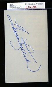 Harmon Killebrew Jsa Authenticated Signed 3x5 Index Card Autograph