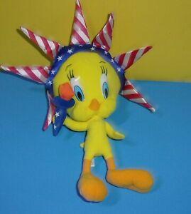 "Nanco Tweety Bird Plush Toy Stuffed Animal Lady Liberty 13"" Looney Toons"