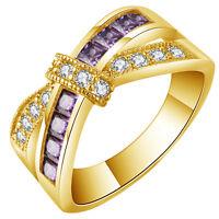 New Fashion Jewelry 18k Gold Filled Wedding Engagement Wedding Ring Women