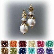 Hook Glass Gold Plated Handcrafted Earrings