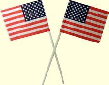 American Flag Plastic Cupcake Picks - 12 Count
