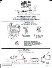 Safety Card - Generic - Cessna - 404 - Titan Courier - 1980 (S2518)