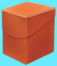 ULTRA PRO Deck Box ECLIPSE PRO-100+ PUMPKIN ORANGE w/ DIVIDER card storage case