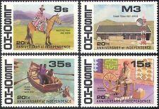 Lesotho 1986 INDIPENDENZA/Cavalli/Radio/POST OFFICE/Tessitura/trasporto 4v (n41960)
