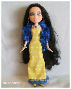 Bratz Doll Clothes Handmade Hearts BOA + GOWN + JEWELRY Fashion NO DOLL d4e